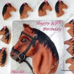 Horse Head Cake and cookies by Luxury London Cake makers