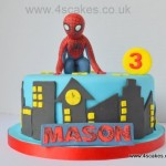Spider man theme birthday cake by 4S cakes Bromley Beckenham wedding cake maker