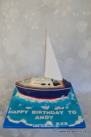 Yatch cake by london wedding cake maker and Bromley cake shop