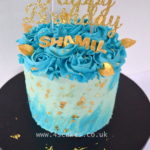 butter cream cake with gold by bromley london wedding cake makers a cake shop in bromley