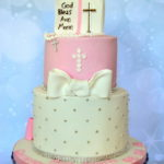 Christening cake by bromley cake maker