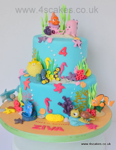 Disney Nemo and Friends theme cake by 4s cakes-Bromley Beckenham cake makers
