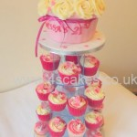 Giant cup cake and cup cake tower