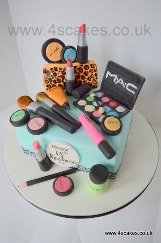 MAC Make up theme cake by 4S cakes Bromley Beckenham cake makers