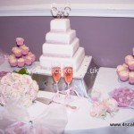 Wedding Cake with Cup cakes by 4SCakes Bromley Wedding cake makers