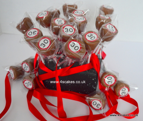 30th Birthday cake pops by 4s cakes ,Bromley Greenwich based cake makers