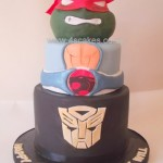 3D Ninja turtle Birthday cake