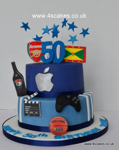 Apple Logo 50th Birthday Cake By 4S Cakes Bromley Croydon Makers