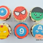 Avengers theme cup cakes,