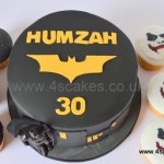 Bat man cake and cup cakes