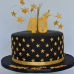 Black and Gold 40th Birthday Cake by Dulwich Cake makers