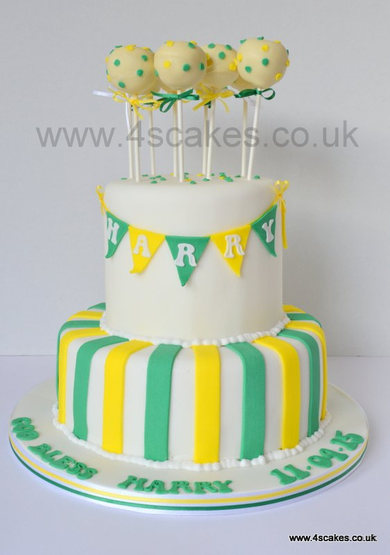 Christening cake with cake pops