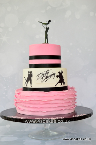 Dirty Dancing theme three tier cake by bromley cake shop 4s Cakes