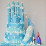 Disney Frozen theme castle cake by 4S Cakes Bromley Cake makers