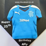 Football T shirt Cake by 4S Cakes Bromley, Croydon Cake Makers