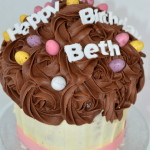 Giant cup cake by 4s cakes ,Bromley Greenwich based cake makers