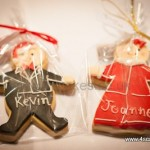 Christmas Ginger bread man Cookie Wedding Favour for a Beckenham Wedding