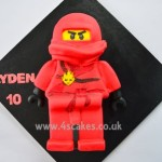 Kai Ninjago Birthday Cake made by 4S Cakes Bromley Croydon Wedding Cake makers