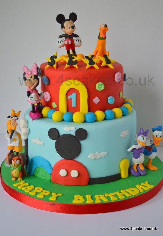 Mickey mouse theme fist birthday cake