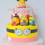 Minion them cake for a girl