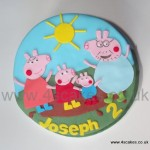 Peppa pigBirthday cake made by 4S Cakes Beckenham Bromley Wedding Cake Makers