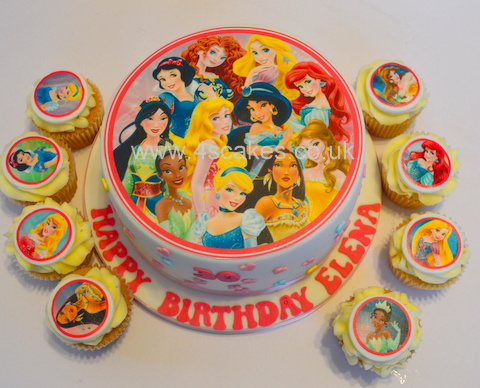 Simple Disney Princess Theme Cake And Cup Cakes By 4S Bromley Greenwich Makers