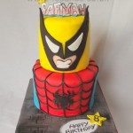 Super Hero Birthday Cake-made by 4s cakes beckenham Bromely Wedding cake makers