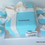 Tiffany and co Cake and cup cakes made by 4S Cakes Beckenham Bromley Wedding Cake Makers