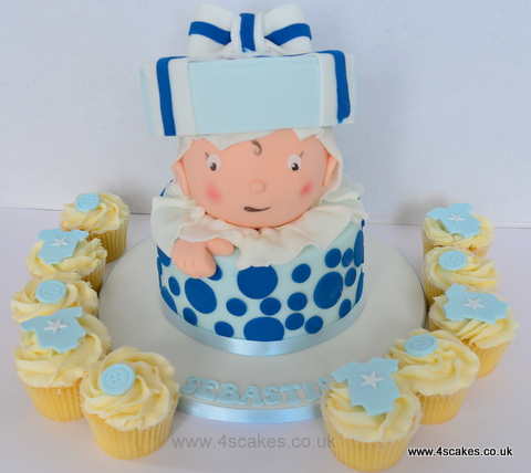 Baby Shower cake and cup cakes by Bromley Beckenham Cake maker
