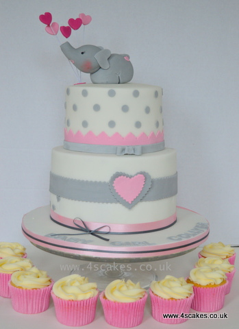 Baby shower cake and cup cakes by bromley london cake makers 4s cakes