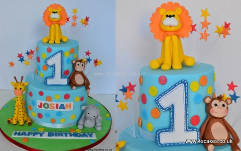 First Birthday cake by Bromley London Cake shop