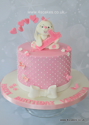 First Birthday cake by 4scakes Bromley London cak