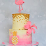 Flamingo buttercream cake bromley london